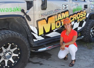 woman motocross rider and manager florida